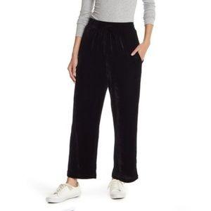 Elodie velvet black pants